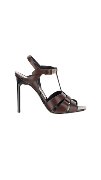 Tribute sandals in Smooth Leather - Dark Chocolate
