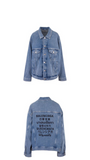 Balenciaga Multi Language Logo Denim Jacket
