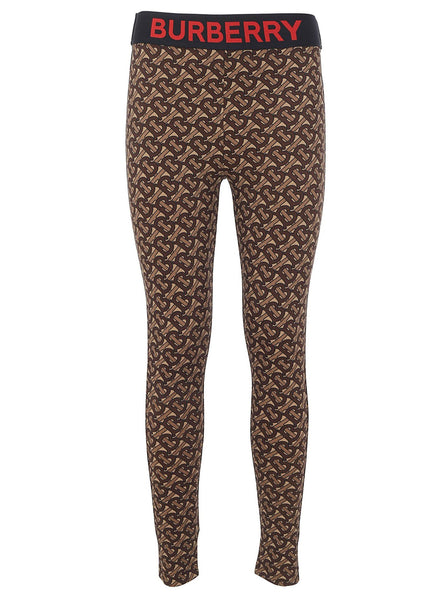 Stretch Jersey Monogram Print Leggings