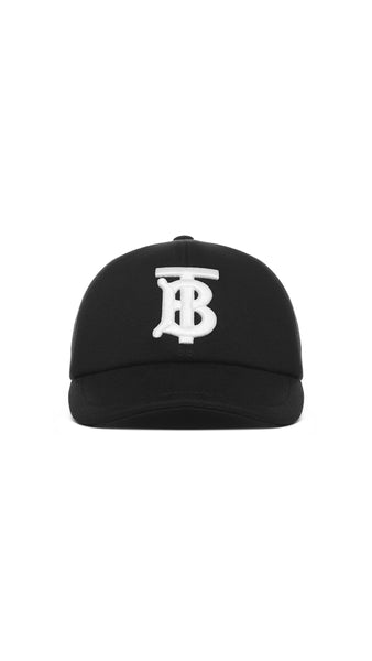 Monogram Baseball Cap - Black
