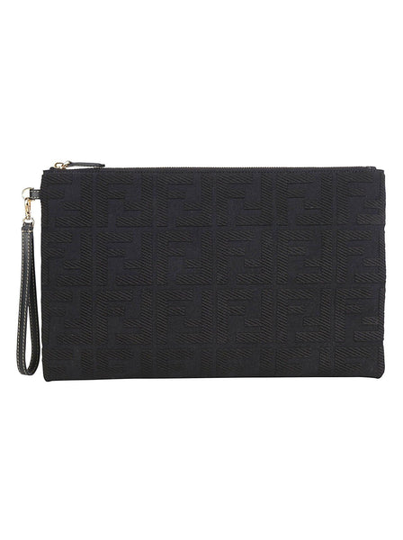 FF Embossed Cotton Pouch
