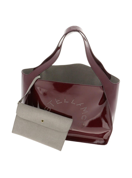 Perforated Logo Open Top Tote Bag