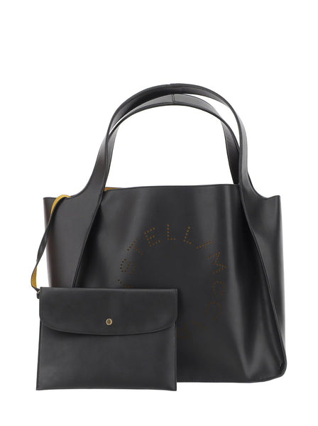 Perforated Logo Smooth Tote Bag