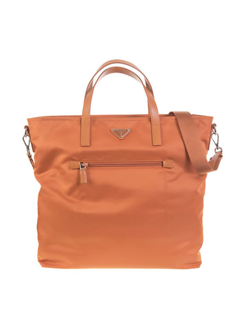 Large Nylon Tote Bag - Orange