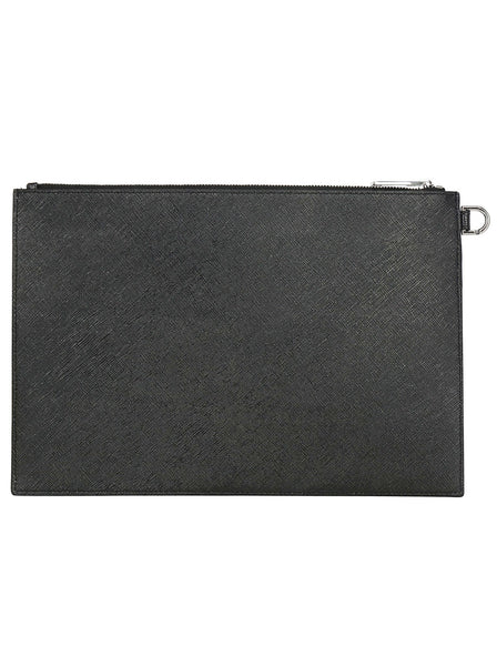 Vintage Effect Coated Canvas Pouch