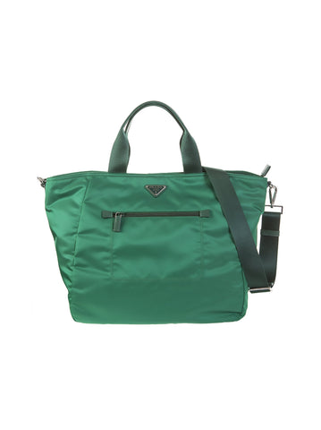 Tessuto Nylon Tote Bag - Green