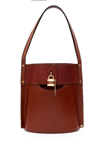 Aby Padlock Leather Shoulder Bag