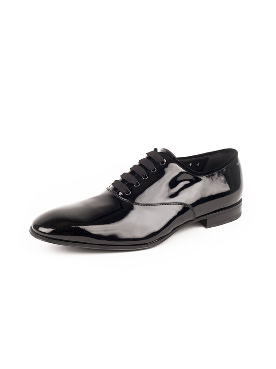 Belshaw Patent Leather Balmoral Oxford - Black