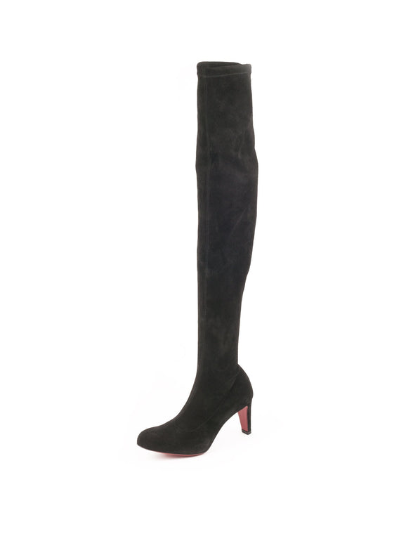 Alta Top Suede Over The Knee 70 Boot - Black