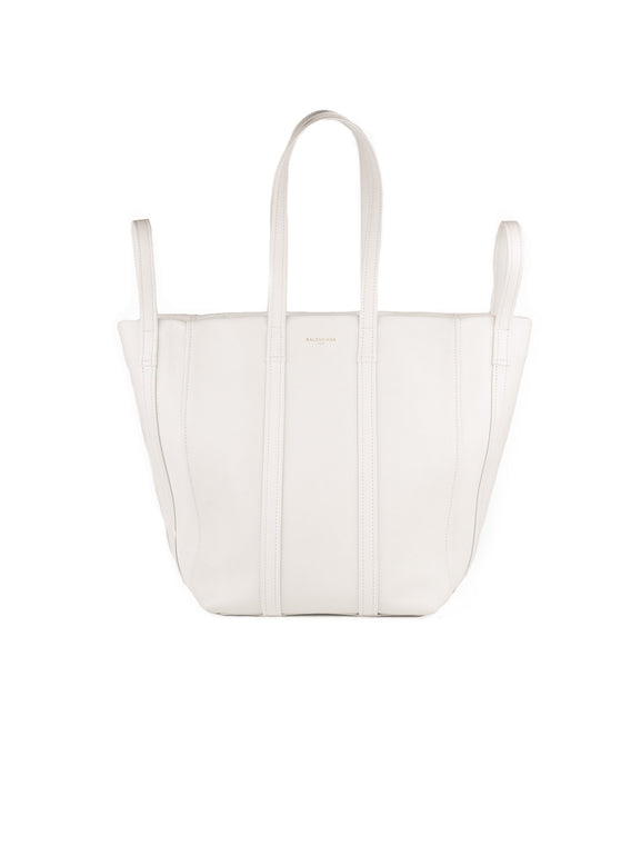 Calfskin Small Laundry Cabas Shopping Bag - White