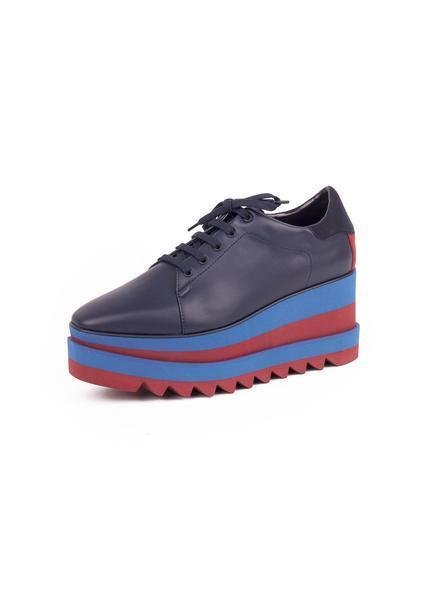 Sneak-Elyse Lace-Up - Navy / Blue / Red