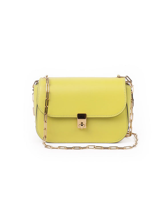 All Over Chain Shoulder Bag - Yellow