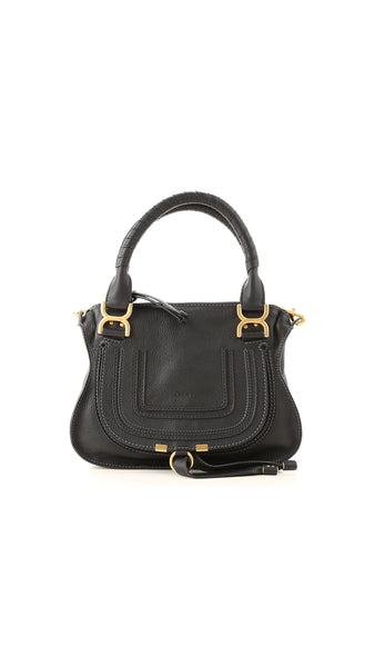 Marcie Small Double Carry Bag - Black