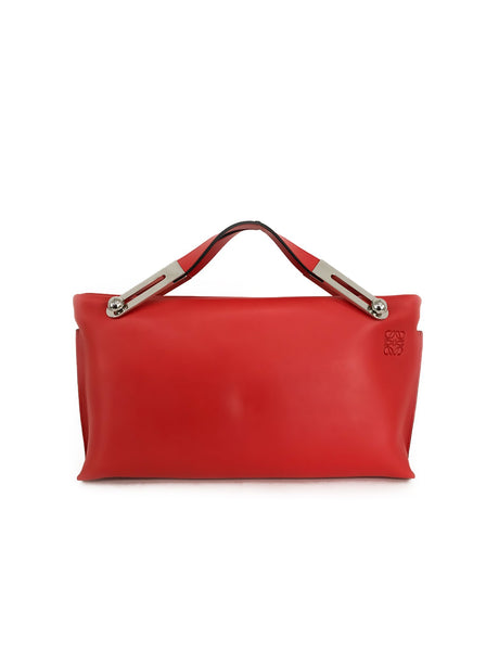 Missy Soft Grained Calfskin Crossbody Hand Bag - Red