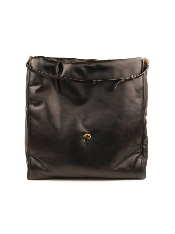 Large Bubble Hobo Bag - Black