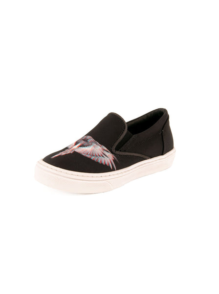 Fabric Wings SALVADOR Skate Low Top Shoes - Black