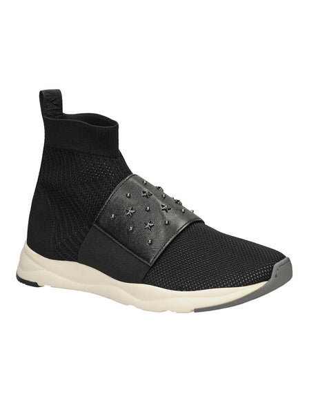 Cameron Studded Mesh Sneakers - Black