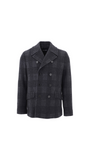Glen Plaid Wool Pea Coat - Multicolor