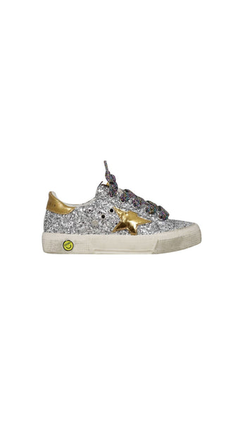 May Sneakers in Glitter - Silver / Gold