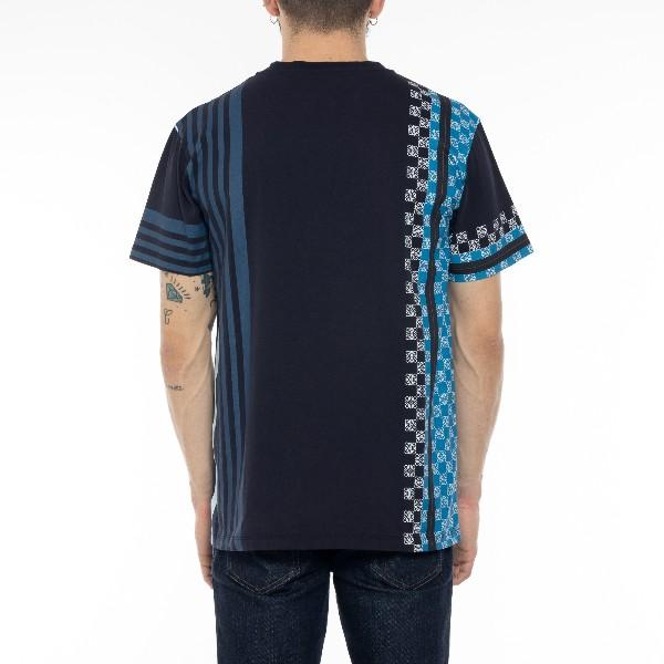 Anagram Embroidered Men's Striped T-Shirt