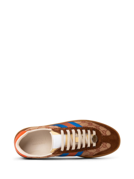 G74 Leather & Web Low Top Sneakers