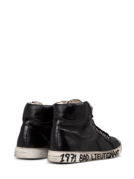 Antibe Glitter & Suede High-Top Sneaker - Black