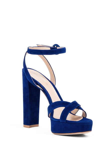 Poppy Suede Sandal Pumps