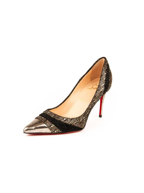 2d2504c18f1f Christian Louboutin - Eklectica 85 Glitter Fabric   Leather Pumps ...