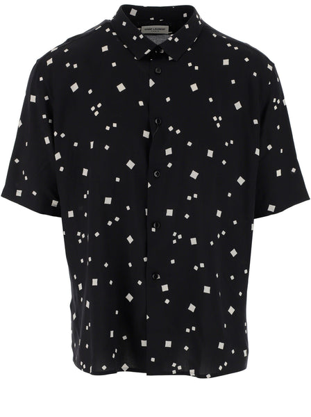 Men's Short Sleeve Viscose Button-Up Shirt