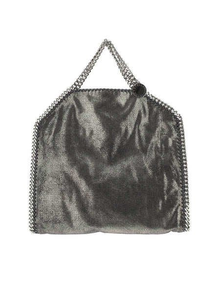 Falabella Metallic Fold Over Tote Bag