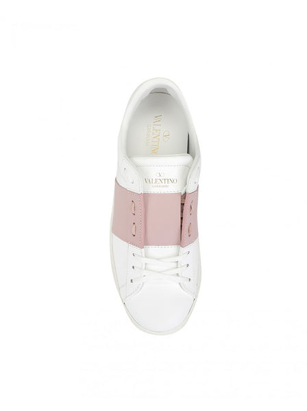 Open Calfskin Leather Sneakers