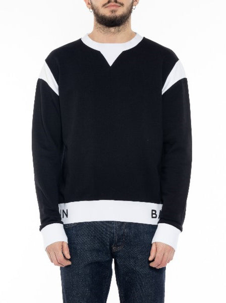 Men's Paneled Cotton Sweatshirt