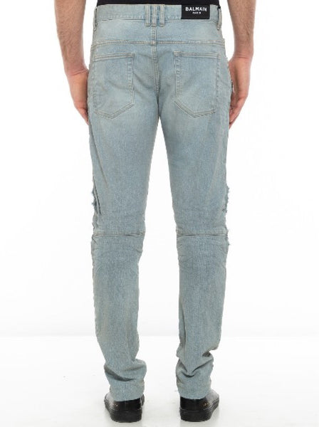 Men's Slim Fit Biker Jeans