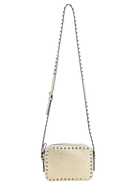 Metallic Craquelure Calfskin Crossbody Bag