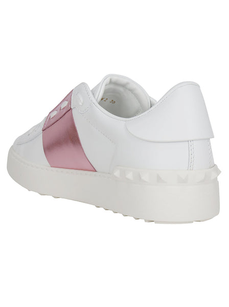 Open Calfskin Low Top Sneakers