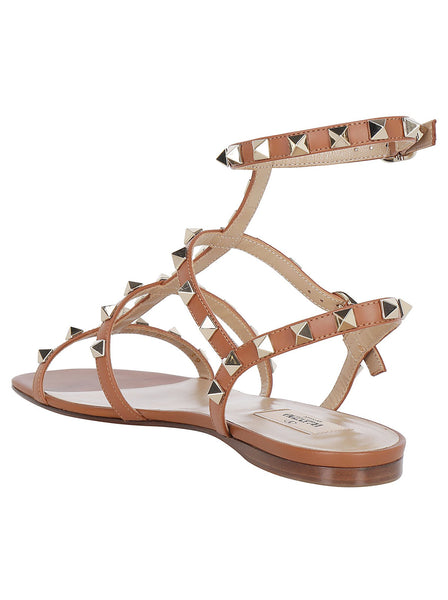 Rockstud Embellished Caged Sandals
