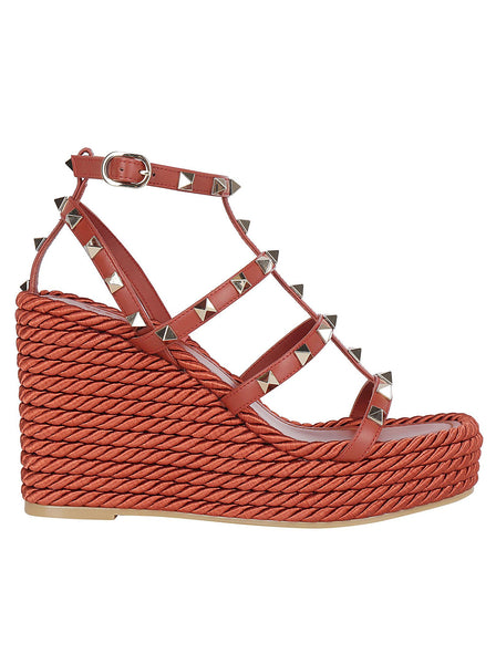 Rockstud Wedge Sandals