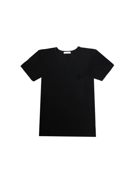 V Neck Undershirt - Black