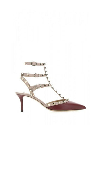 Rockstud Caged Pumps 65mm - Bordeaux