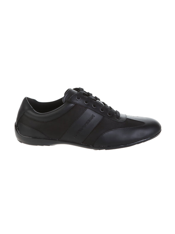 Leather Laced Action Derby Sneaker - Black
