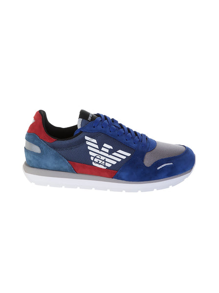 Causal Logo Trainers - Blue / Gray