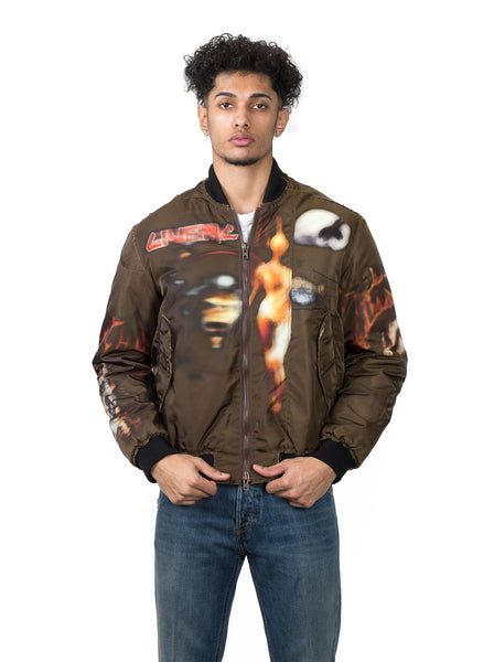 Heavy Metal Bomber Jacket - Ebony Brown
