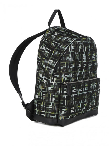 Camouflage FF Print Large Nylon Backpack