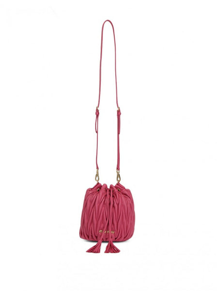 Matelassé Lambskin Bucket Bag