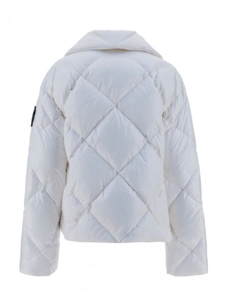 Quilted Monogram Print Puffer Jacket