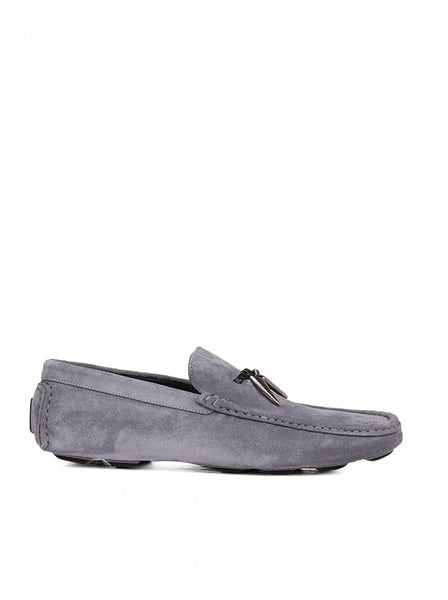 Shark Tooth Suede Leather Loafer - Gray