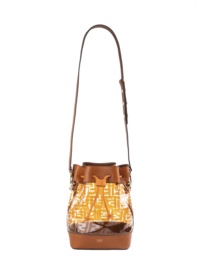 0e157474c0f Mon Tresor Calf Leather & PVC Bucket Bag - Brown / Orange|Amuze