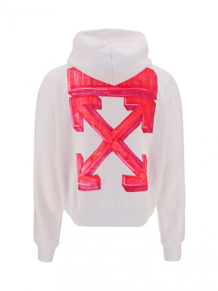 Men's Marker Arrows Hoodie - White / Red