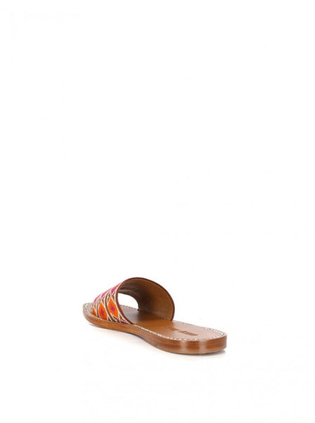 Jacquard Crystal Sandals