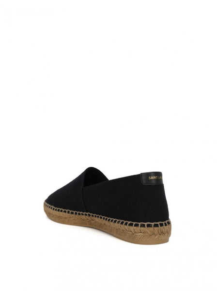 Men's Embroidered Espadrilles in Canvas - Black